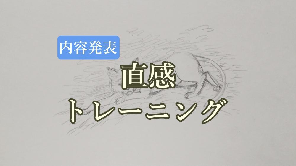 【内容発表】直感トレーニング